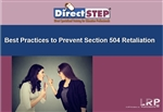 Best Practices to Prevent Section 504 Retaliation
