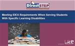 Meeting IDEA Requirements When Serving Students With Specific Learning Disabilities