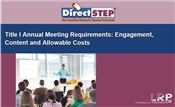 Title I Annual Meeting Requirements: Engagement, Content, and Allowable Costs
