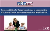Responsibilities for Paraprofessionals in Implementing IEP Annual Goals, Accommodations and Modifications